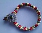 Red/Yellow/Green Flat Weave Harmony Bracelet