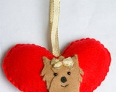Handmade Felt Christmas Hearth Baby Yorkie - Pets - Personalized