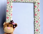 Photo Frame Flowers and baby bear