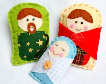 Handmade Felt Nativity - Christmas Decor - Ornaments
