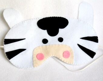 Handmade Zebra Night Mask - Jungle Animals