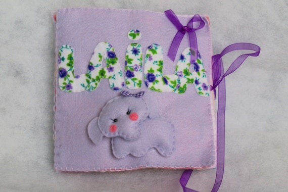 Personalized Kids Felt Name Book