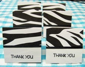 2x2 Black And White Animal Print Mini Cards - 6 sets