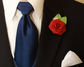 Choose your color of Paper Rose Boutonniere