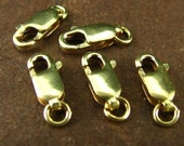 5 Pieces 14kt Gold Filled Lobster Claws -  GF Clasps -  10mm x 4mm  SP5
