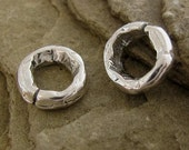 Sterling Silver Jump Rings -  Artisan Crafted Connectors - Boho Thick n Chunky - Open  8.5mm  4 Links  AC141a