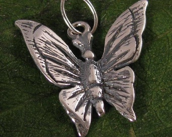 Sterling Silver Butterfly Charms or Small Pendants 2 Pc C220