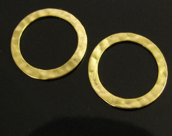 Vermeil Gold Circle Links or Connectors 14.3mm - 10 Pcs - L90a