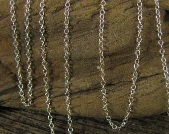 Beading Chain - 1.1mm Sterling Silver Cable Chain - Tiffany Cable Chain - 10ft - CH4-10