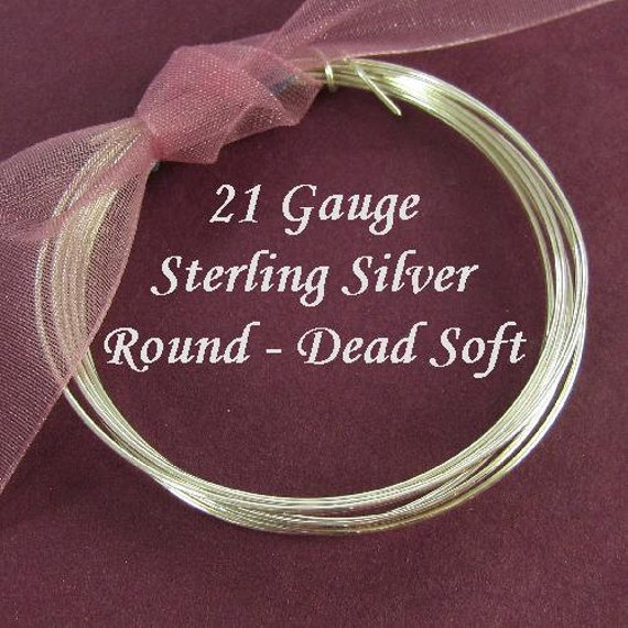21 Gauge Sterling Silver Wire -Dead Soft- Round-10 Ft - DS21S10