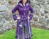 Purple Sage - Gypsy coat from recycled  sweaters by SpiralGypsy Size S-M - RESERVED for Chrystal
