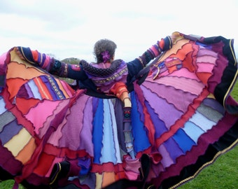 Romani - RESERVED - Custom order for Jill - Gypsy coat from recycled sweaters by SpiralGypsy - please do not purchase