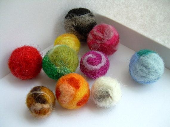 10 Needle Felted Balls