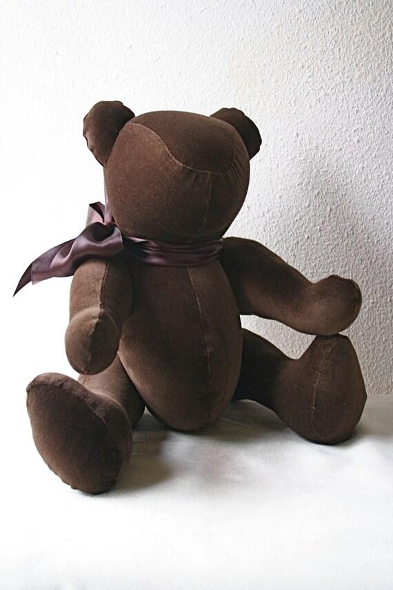 Beasley  the classic, velveteen, jointed bear