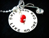 Hand Stamped Personalized Singer Necklace - Sing Like No One Can Hear Neckalce - Music Note