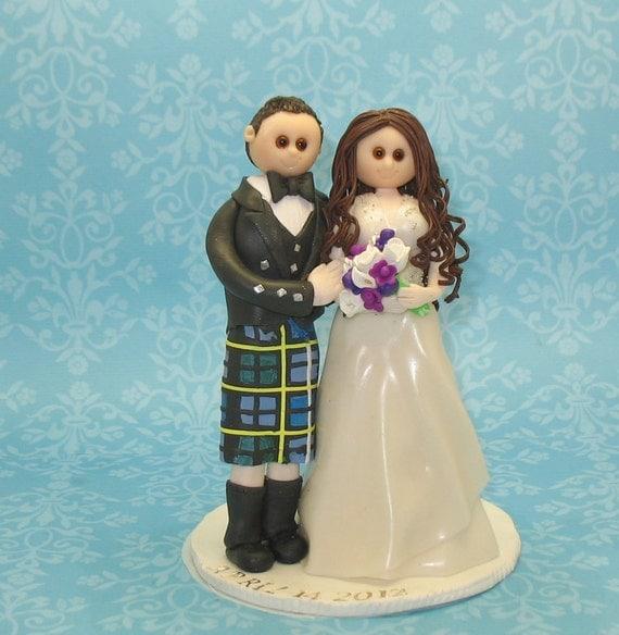 Items Similar To Scottish Kilt Wedding Cake Topper On Etsy