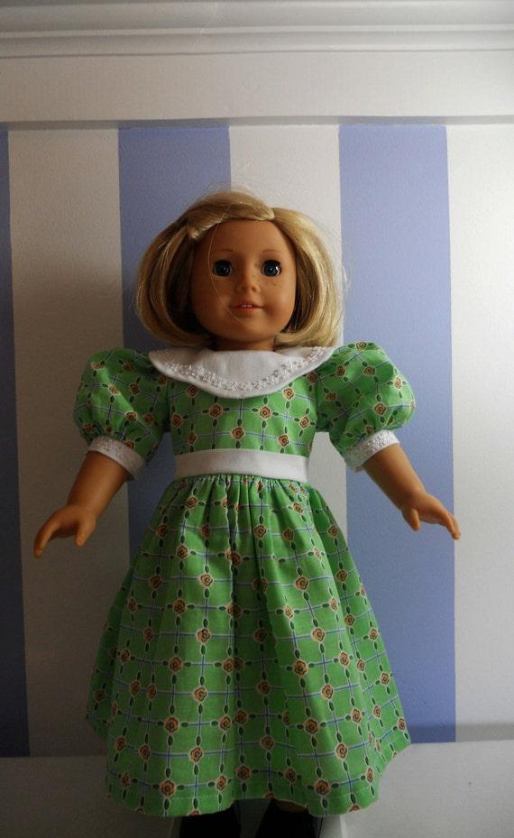 SALE Green Flower Dress for American Girl Doll