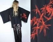 Vintage Black Kimono Haori Jacket