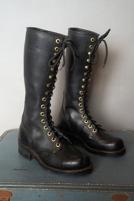 Vintage Tall LINEMAN Heavy Duty Boots ((((((((Reserved for Kristan))))))))