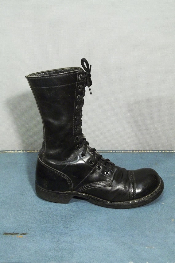 Authentic Vintage CORCORAN American PARATROOPER Jump Boots. Made in USA. Wome Size 8.5 (39 Euro)