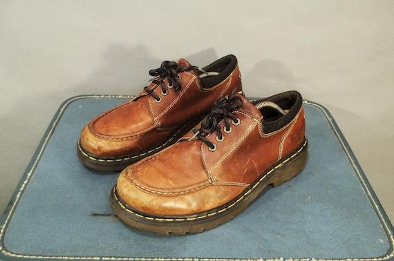 MENS Vintage Dr. MARTENS Moc Toe Oxfords. Made in ENGLAND. Men Size 12 (46 Euro)