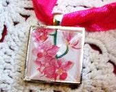 Elegant Bouquet Charms, doubles as a necklace, Orchid Design