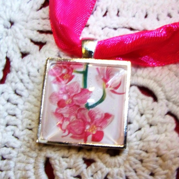 Elegant Bouquet Charms, doubles as a necklace, Orchid Design