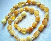 Baltic Amber  Baby Teething Necklace. Raw unpolished amber beads. Maximum effective.