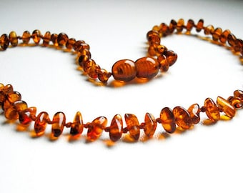 Honey   Baltic Amber Baby Teething Necklace. Natural Pain Relief Solution for Your Baby.