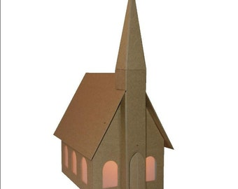 DIY Kit- Little Chapel Chipboard Gingerbread House