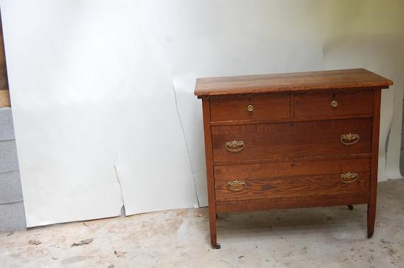 HOLD FOR BRITTANY-vintage solid oak wood oak dresser