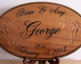 Personalized Oval Family Name sign