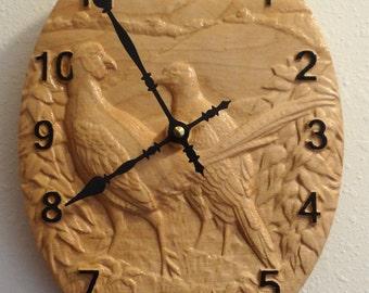 Pheasant Oval Clock