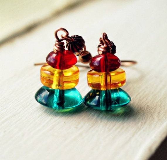 year end clearance 30% off crosstown traffic colorful beaded earrings traffic lights