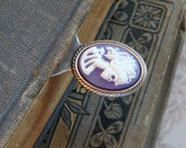 Purple Vampire Cameo Bookmark.  Other Colors Are Also Available in Shop.