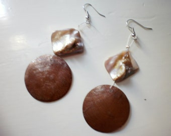 brown dangle earrings /summer/  ready to ship