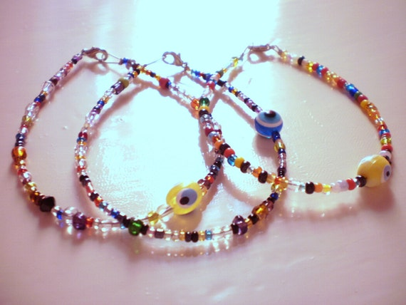 colorful charm  bracelets / set of 3 (free combined shipping)