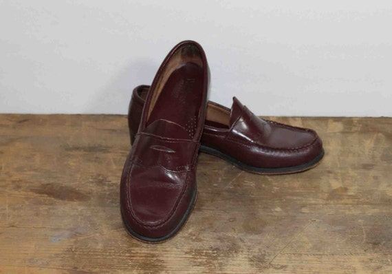 1960s Vintage Oxblood Penny  Loafers  G.H. Bass Size 8