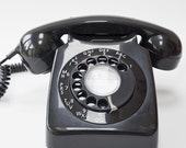 1960s or 1970s Black BT dial telephone