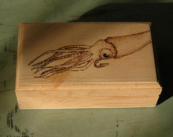 Wooden Squid Box