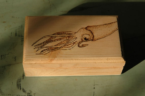 Wooden Squid Box