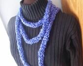 Blue Skinny Scarf - Necklace
