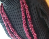 Cranberry Red Skinny Scarf - Necklace - Shades of Red and Burgundy