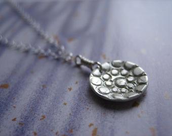 Mini Pebble Stone Sterling Silver Necklace