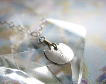 Dainty Tulip Sterling Silver Necklace