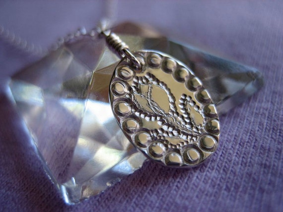Victorian Tulip Sterling Silver Necklace