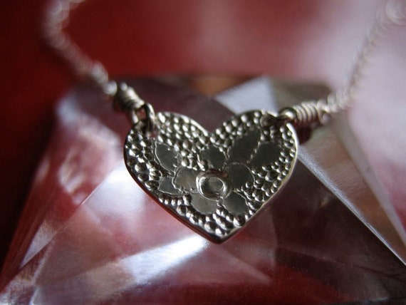 Strawberry Heart Sterling Silver Necklace