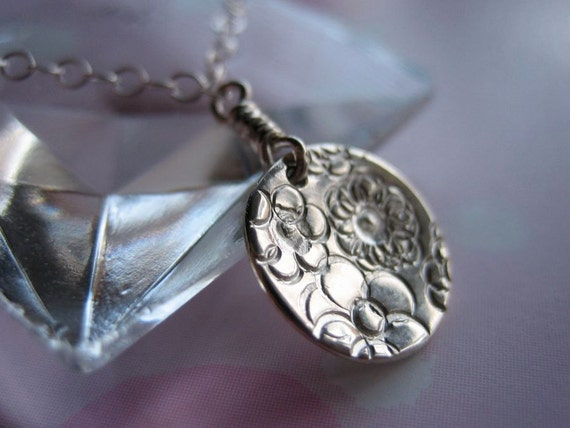 Floral Kaleidoscope Sterling Silver Necklace