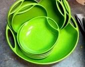 Branchell 9 piece melmac salad set by Kaye LaMoyne