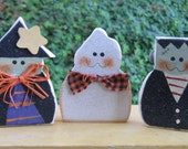 Halloween Decor-Spooky Trio Shelf Sitters-Witch Ghost and Monster